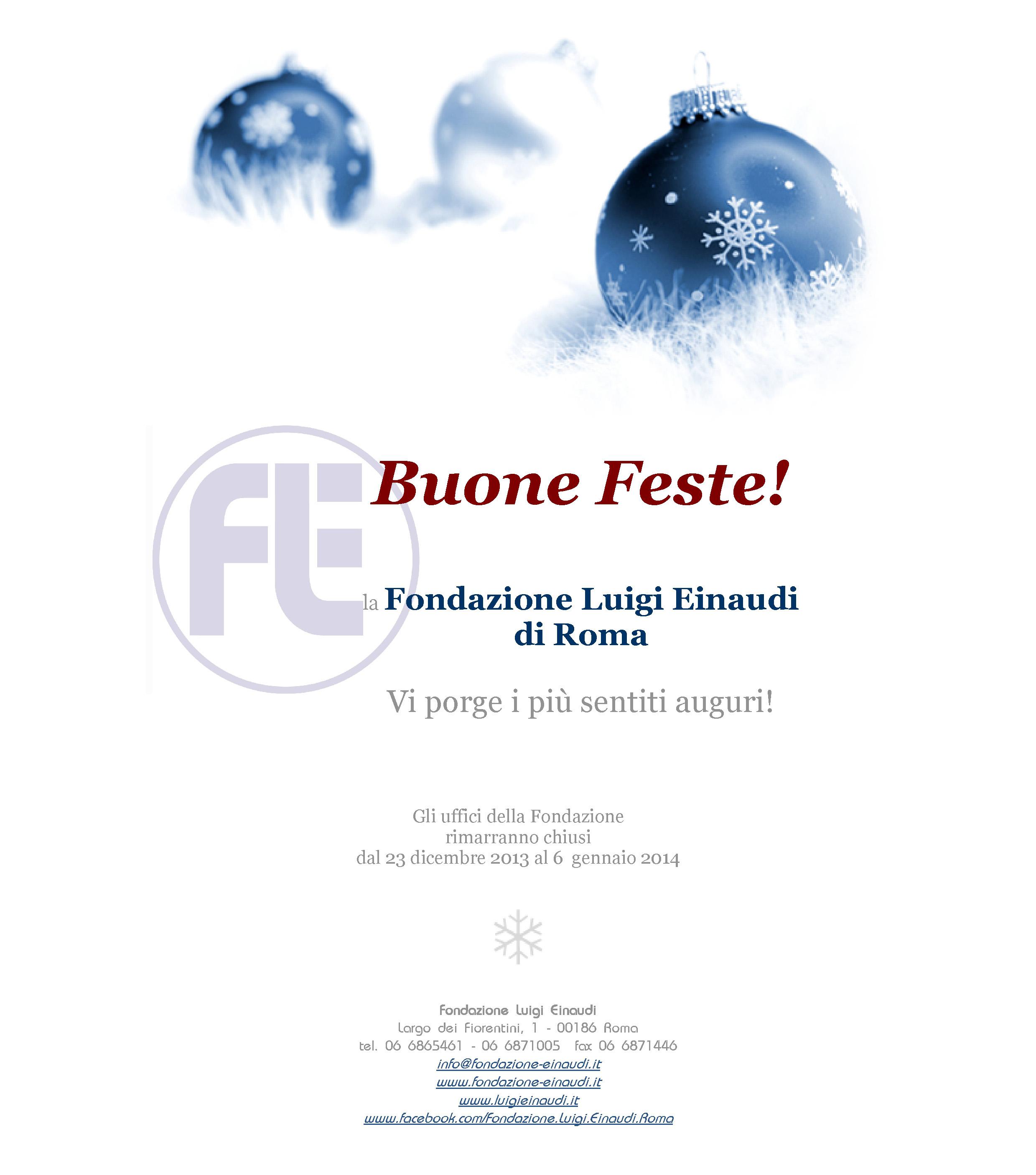 Buone Feste 2013-2014