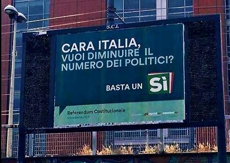 Con gli slogan sul referendum il pd insegue l 39 antipolitica for Numero parlamentari italia