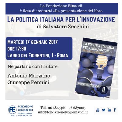 Presentazione La politica italiana per l'innovazione