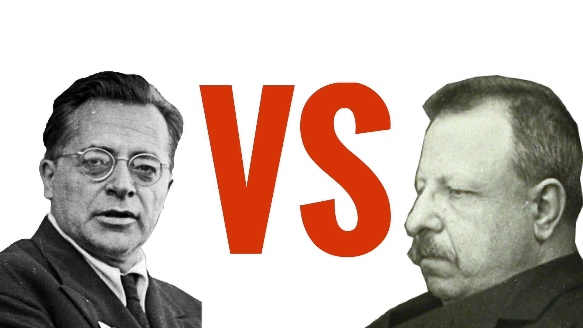 Togliatti e Croce, il comunista vs il liberale