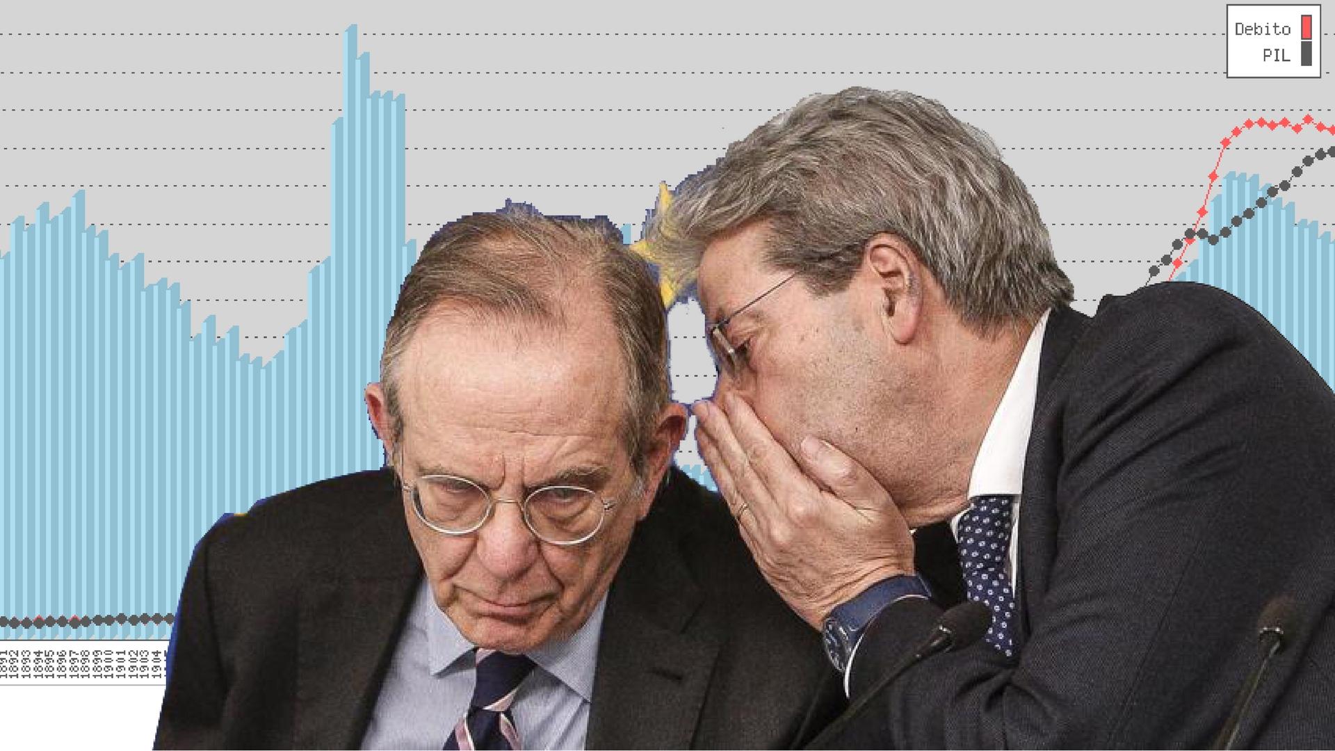 Debito pubblico sale, debito pubblico scende