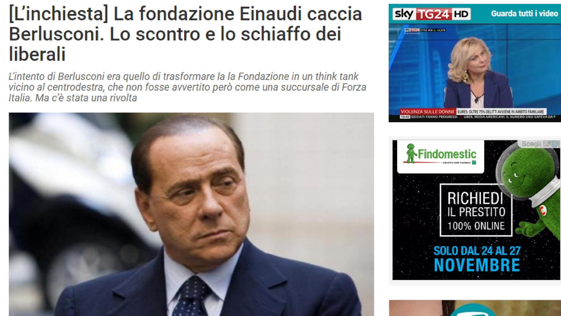 Fondazione Einaudi, quando Berlusconi cercò di prenderla