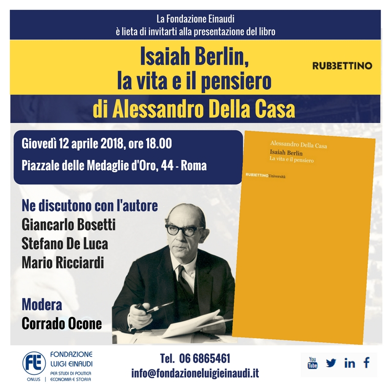 Isaiah Berlin, life and thoughts