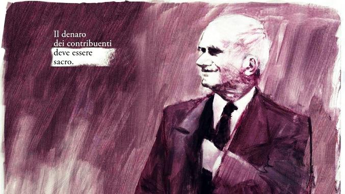 Il murale per Einaudi nel Comune dei saggi