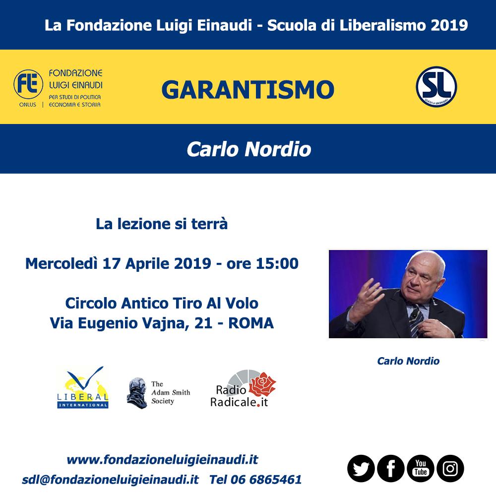 "Liberalism School 2019 – Rome: Carlo Nordio's lesson on ""Garantism"""