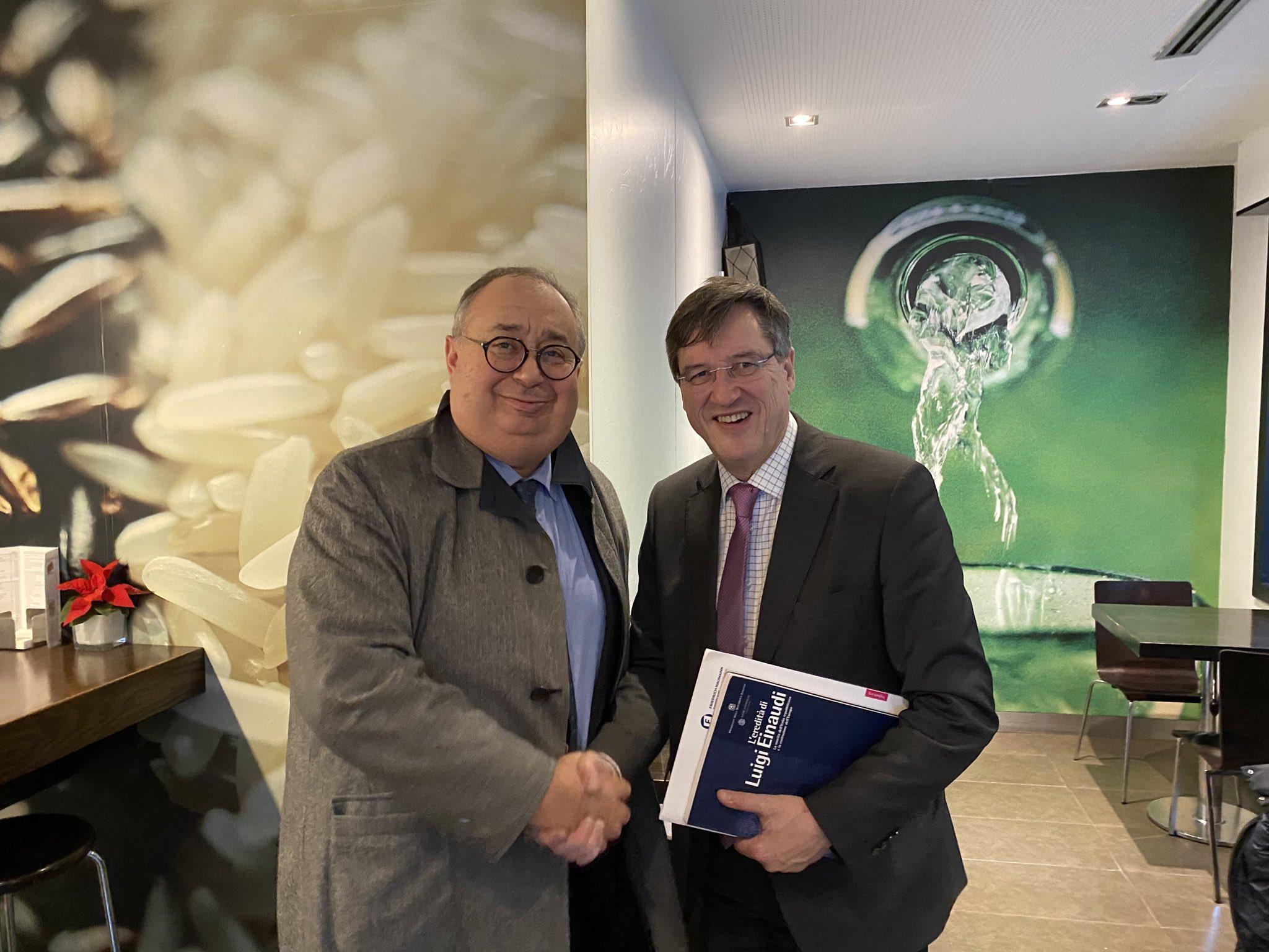 Incontro tra Presidente Benedetto e Presidente Karl-Heinz Paquè, della Fondazione Friedrich-Naumann-Stiftung für die Freiheit, a Madrid