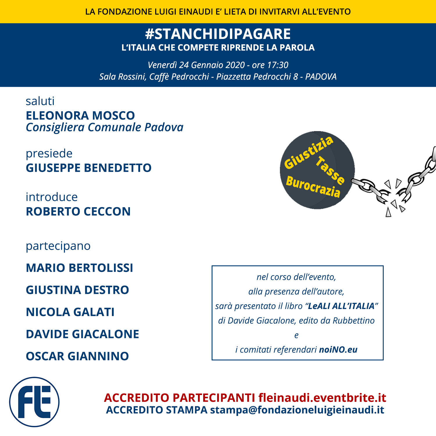 #STANCHIDIPAGARE – Competent Italy take the floor – PADUA