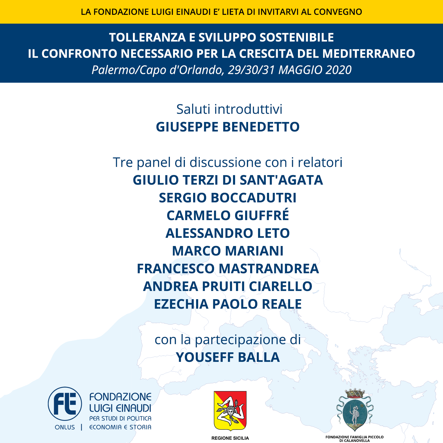 Sustainable development and tolerance: necessary comparison for development in the Mediterranean – EVENT POSTPONED