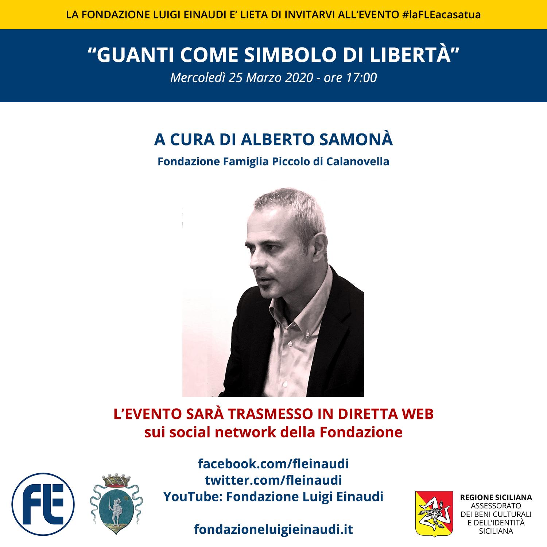 """#laFLEacasatua – Diretta con il giornalista Alberto Samonà, tema """"Guanti come simbolo di libertà"""""""