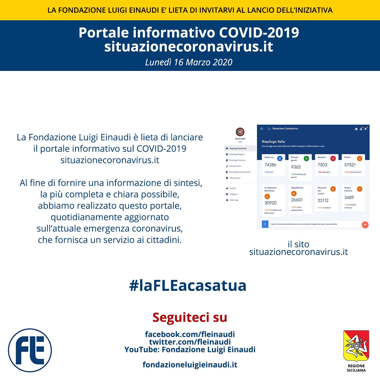 #laFLEacasatua – Lancio del portale informativo situazionecoronavirus.it