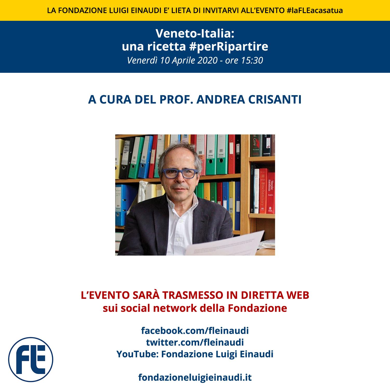 """#laFLEacasatua – Diretta con il Prof. Andrea Crisanti sul tema: """"Veneto-Italia: una ricetta #perRipartire"""""""