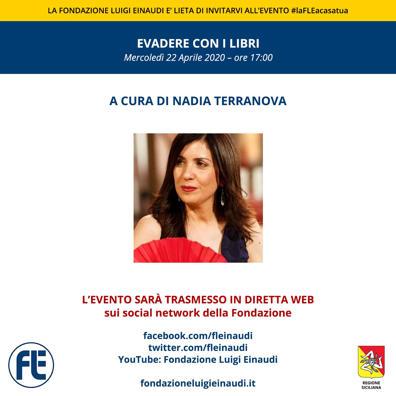 """#laFLEacasatua – Diretta con Nadia Terranova, tema """"Evadere con i libri"""""""