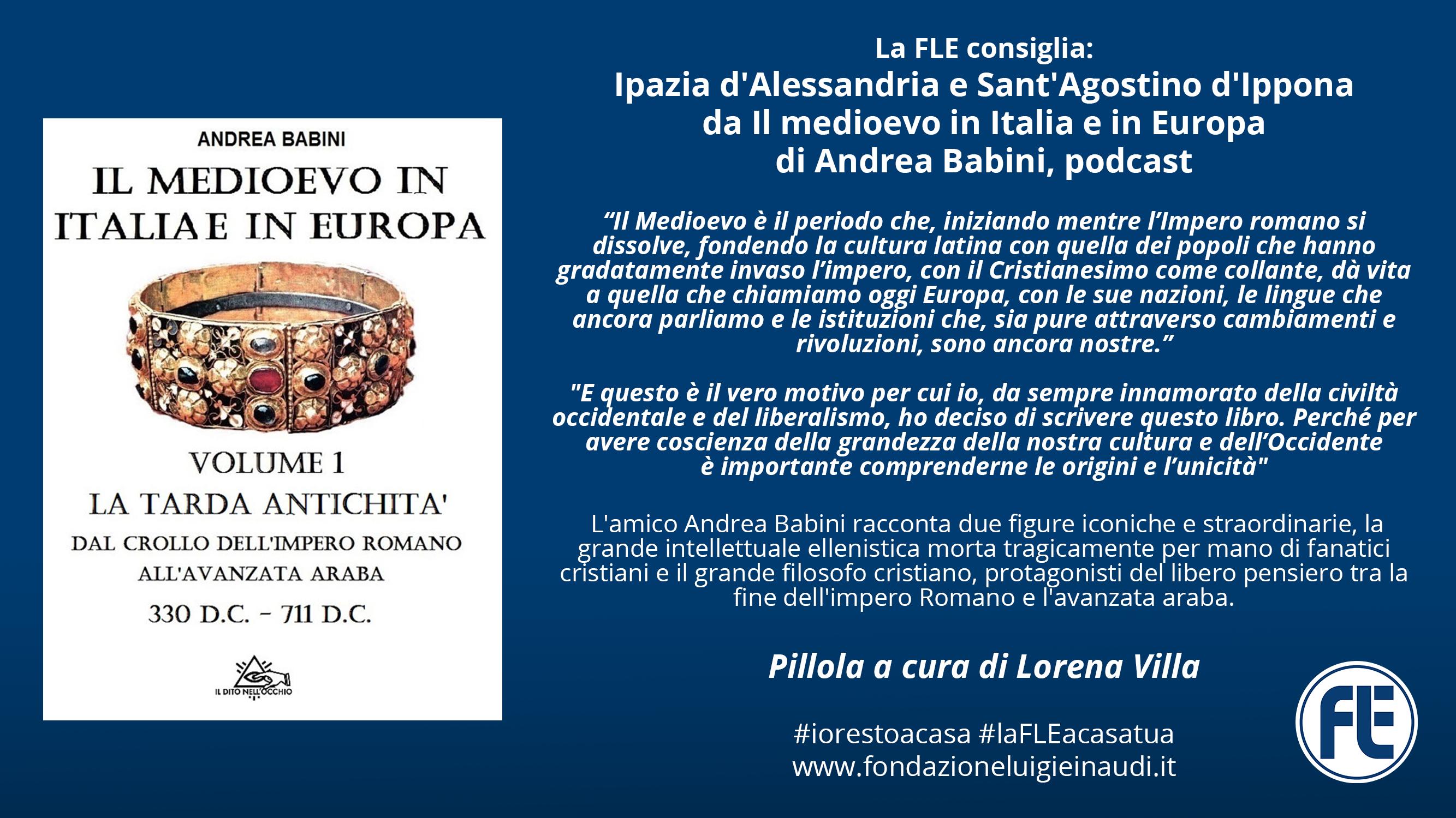#laFLEacasatua – Pillola #11, Ipazia d'Alessandria e Sant'Agostino d'Ippona