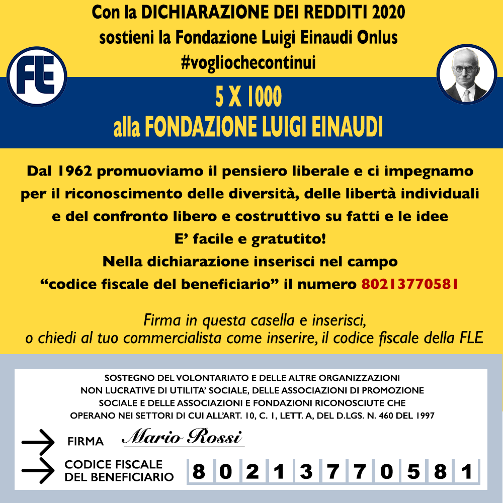 #I want that it continues the 5 x 1000 for the Luigi Einaudi Foundation