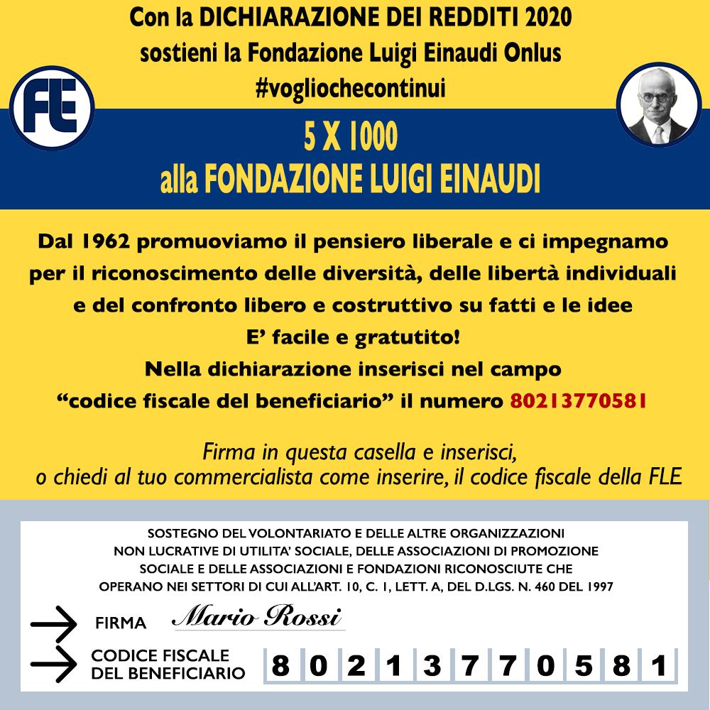 5×1000 alla Tua Fondazione