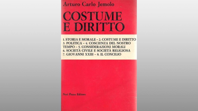 """Michele Gerace legge """"Costume e diritto"""" di Arturo Carlo Jemolo"""
