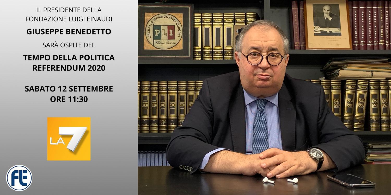 Giuseppe Benedetto, ospite su La7 sabato 12 settembre ore 11:30