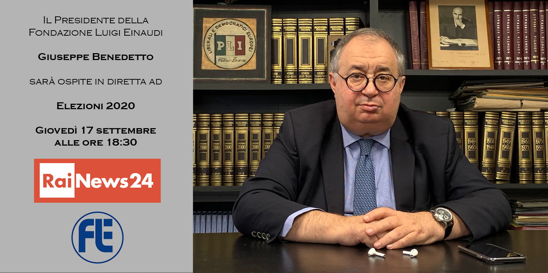 ll Presidente Giuseppe Benedetto sarà ospite giovedì 17 settembre alle 18:30 a RaiNews24