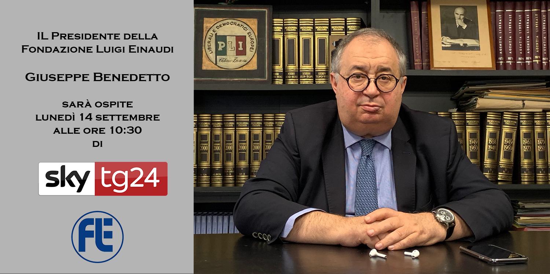 Il Presidente della Fondazione Einaudi ospite lunedì 14 settembre a SkyTg24
