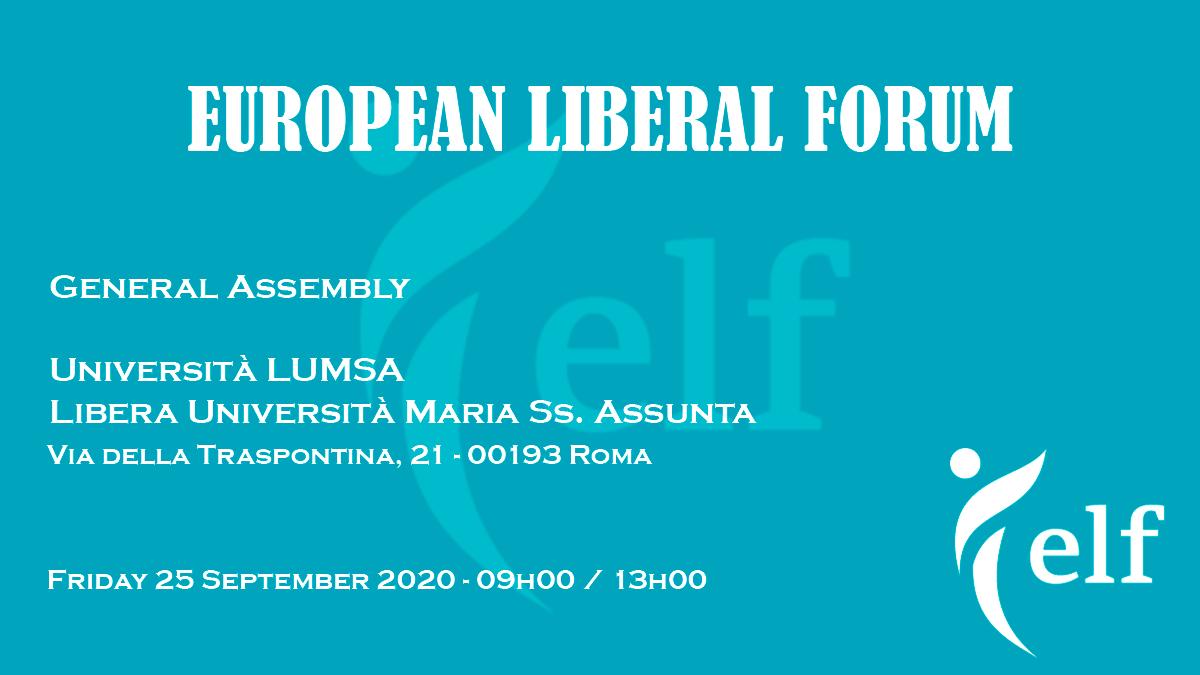 ELF torna a Roma. La FLE è felice di ospitare le Fondazioni liberali di tutta Europa.