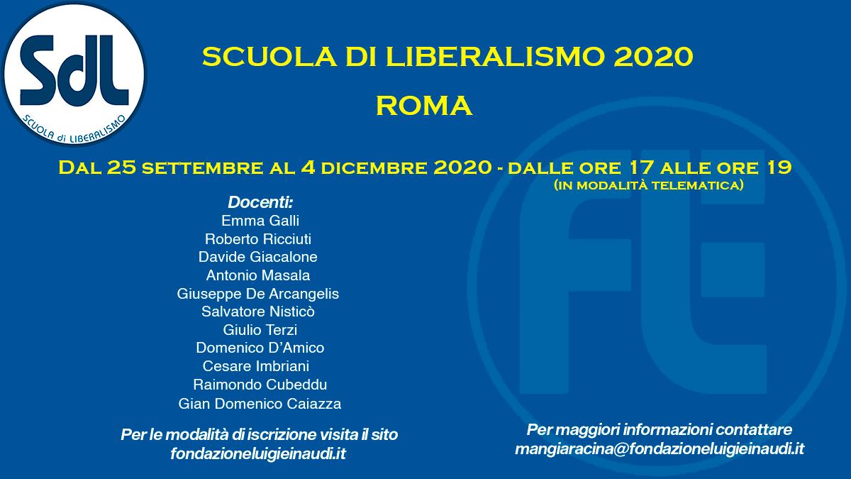 Scuola di Liberalismo 2020  – Roma