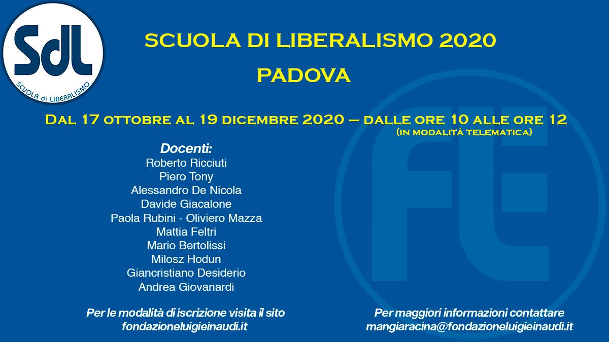 Scuola di Liberalismo 2020 – Padova