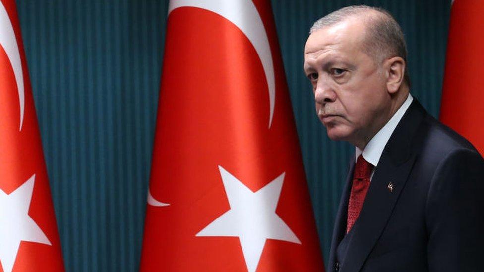 Faccia da Erdogan