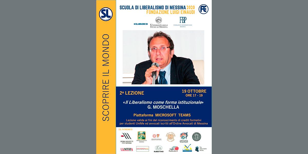 Lunedì 19 ottobre, secondo appuntamento della Scuola di Liberalismo 2020 di Messina