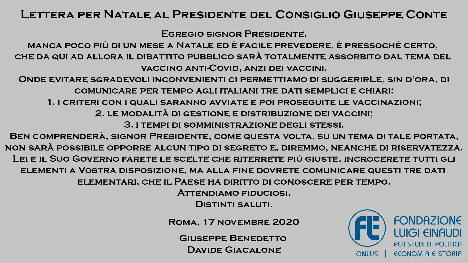 Sottoscrivi la lettera aperta della Fondazione Luigi Einaudi sui vaccini al Presidente del Consiglio