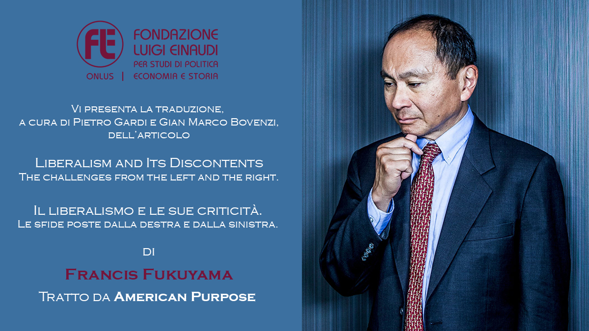 Reflections of a contemporary Liberal – Francis Fukuyama