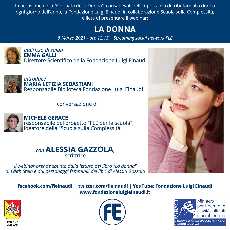 La Donna: appuntamento l'8 marzo con Alessia Gazzola