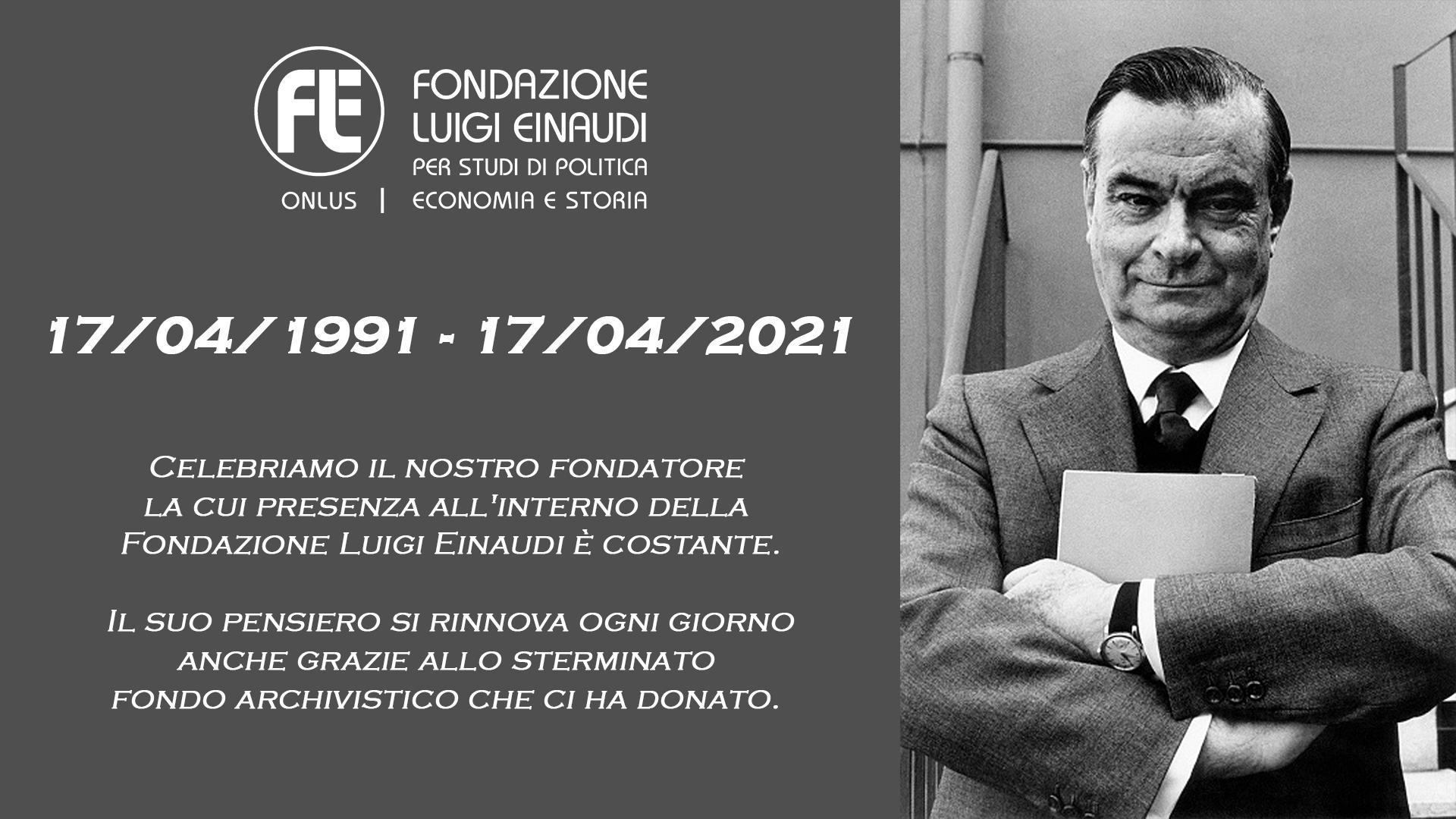 Celebrazione in onore di Giovanni Malagodi – 17 aprile 2021