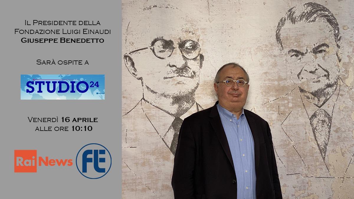 Il Presidente Giuseppe Benedetto ospite a Rai Studio 24 su Rai News il 16 aprile 2021