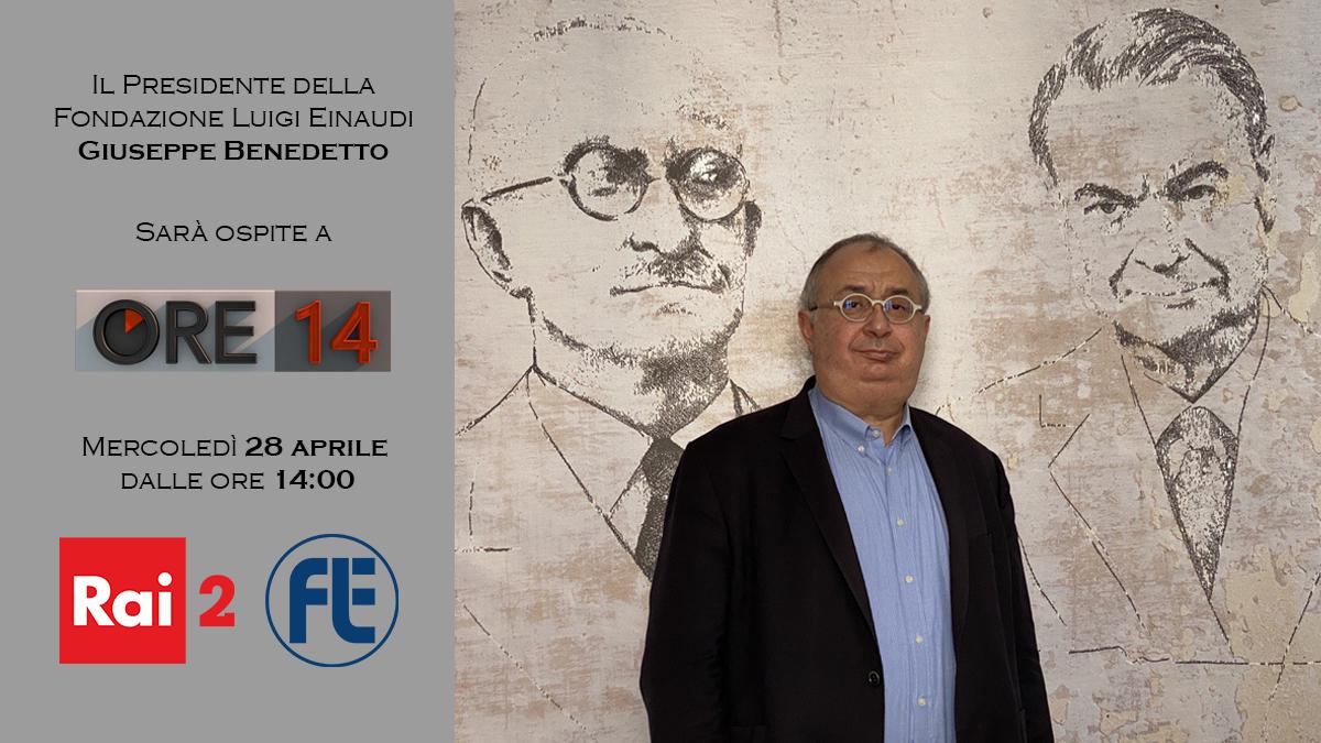 Il Presidente Giuseppe Benedetto ospite il 28 aprile a Ore 14 su Rai 2