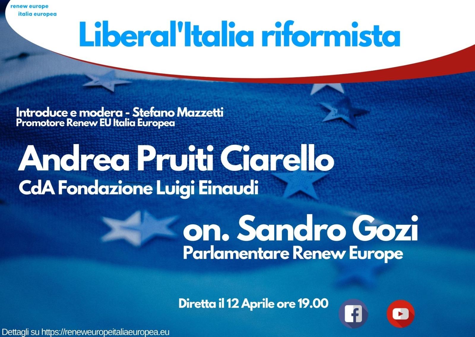 Andrea Pruiti Ciarello ospite a Renew Europe: Liberal'Italia riformista