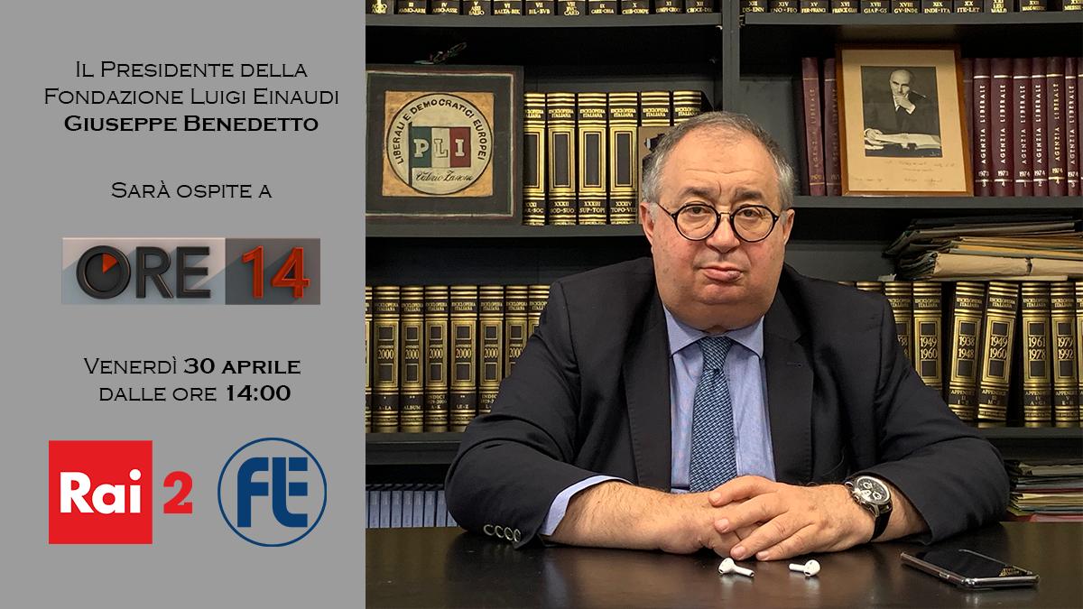 Il Presidente Giuseppe Benedetto ospite ad Ore14 su Rai2 il 30 aprile 2021