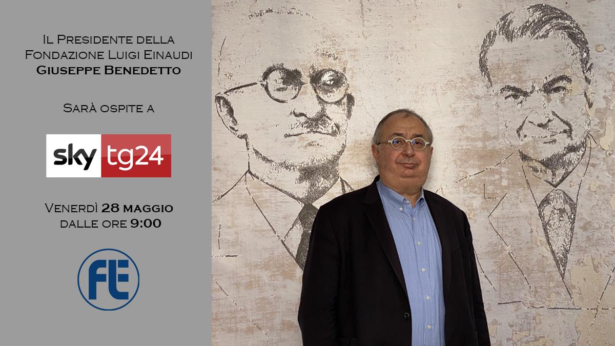 Il Presidente Giuseppe Benedetto ospite di SkyTg24 il 28 maggio