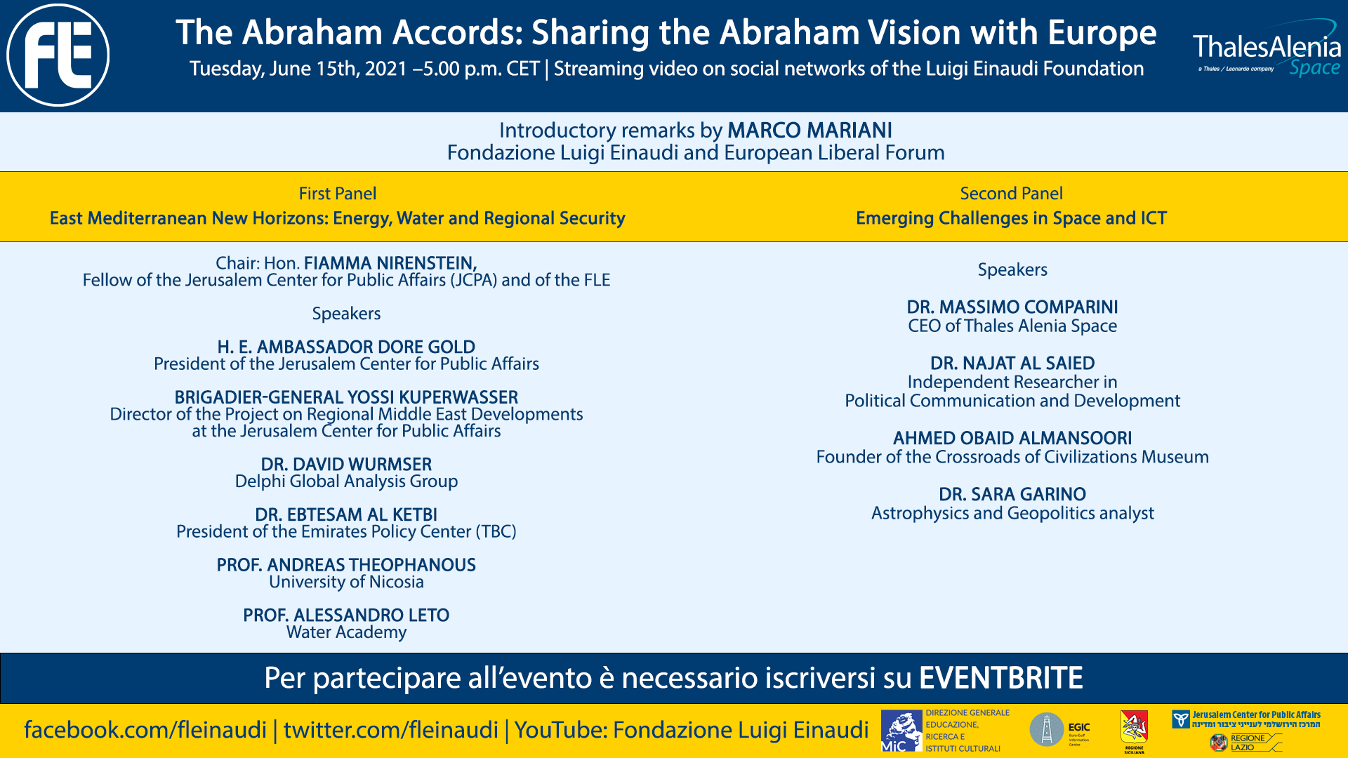 The Abraham Accords: Sharing the Abraham Vision with Europe