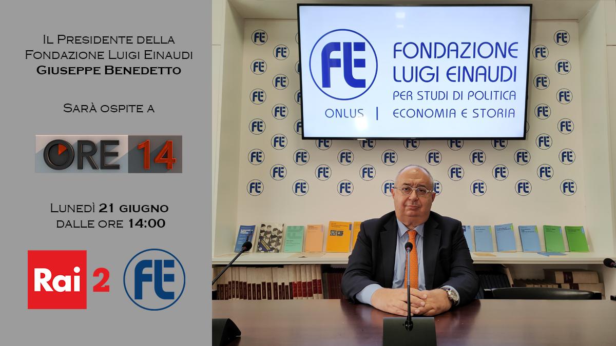 Il Presidente Giuseppe Benedetto ospite ad Ore14 su Rai2 il 21 giugno 2021