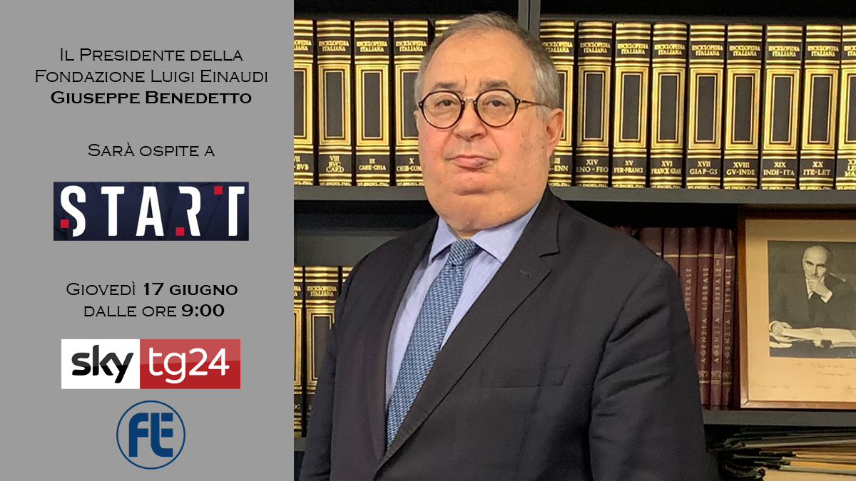 Il Presidente Giuseppe Benedetto ospite a Start su SkyTg24 il 17 giugno 2021