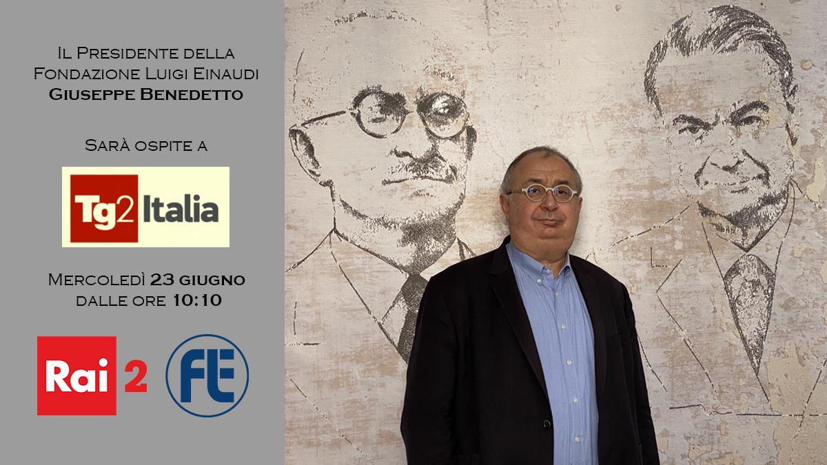 Il Presidente Giuseppe Benedetto ospite a Tg2Italia su Rai2 il 23 giugno 2021