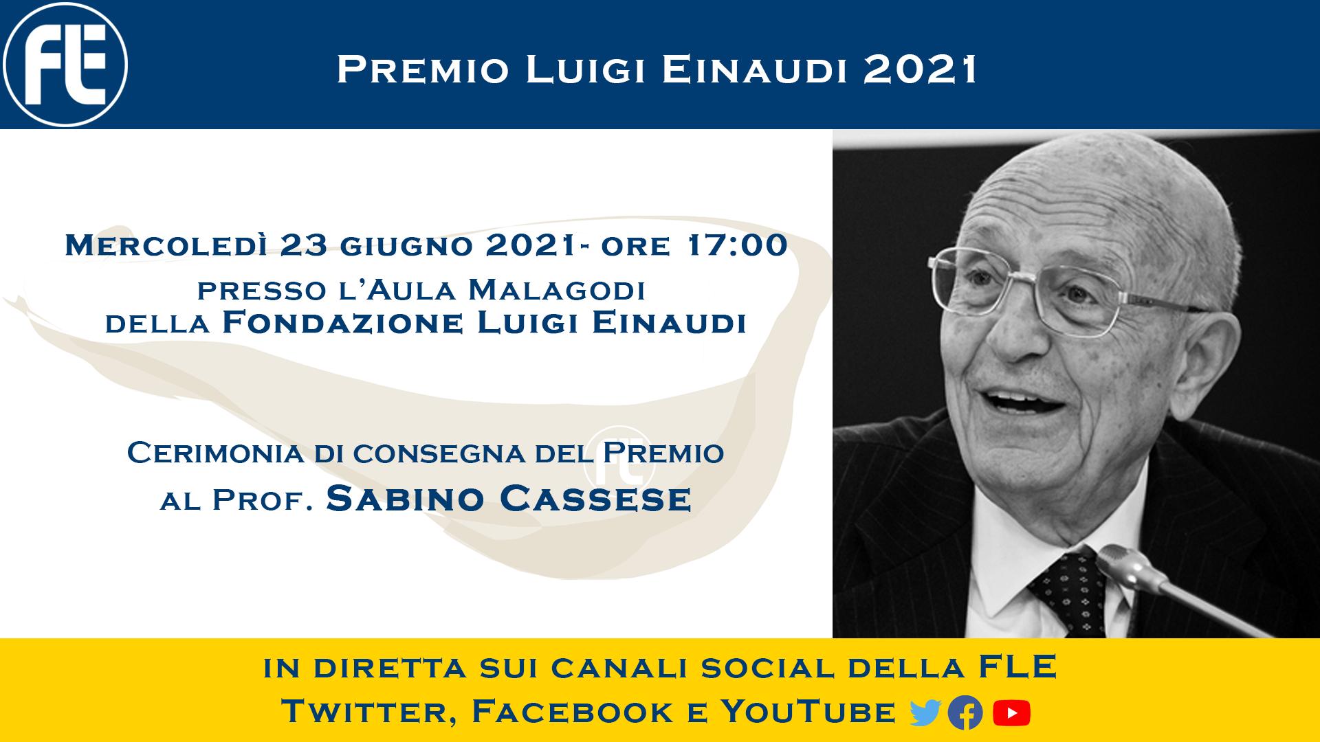Premio Luigi Einaudi 2021