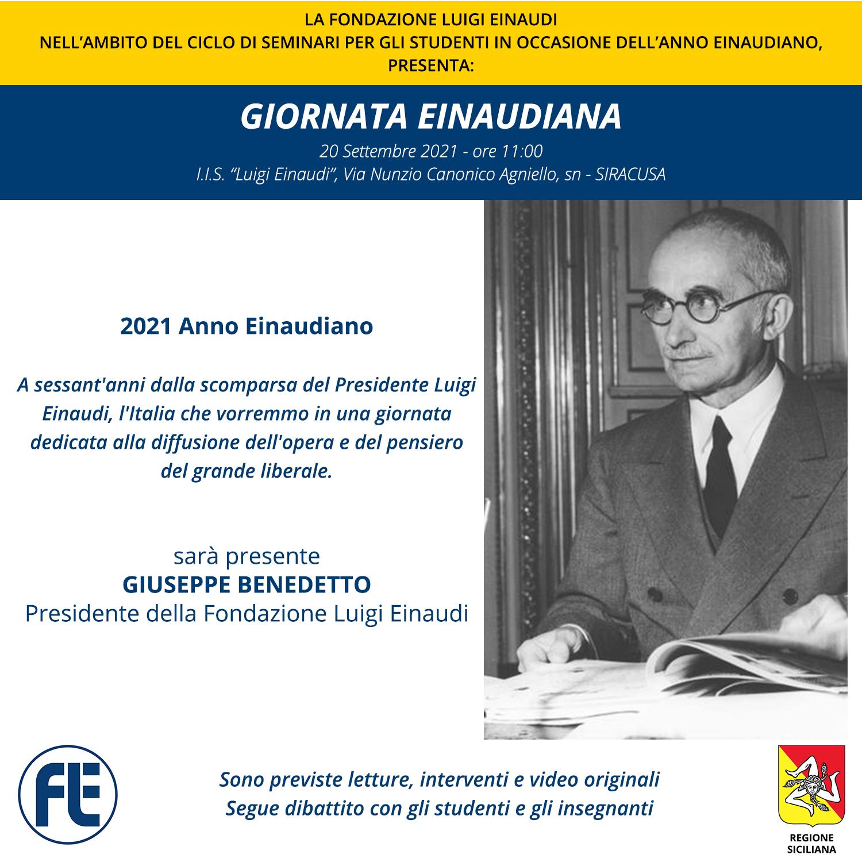 Luigi Einaudi tribute day