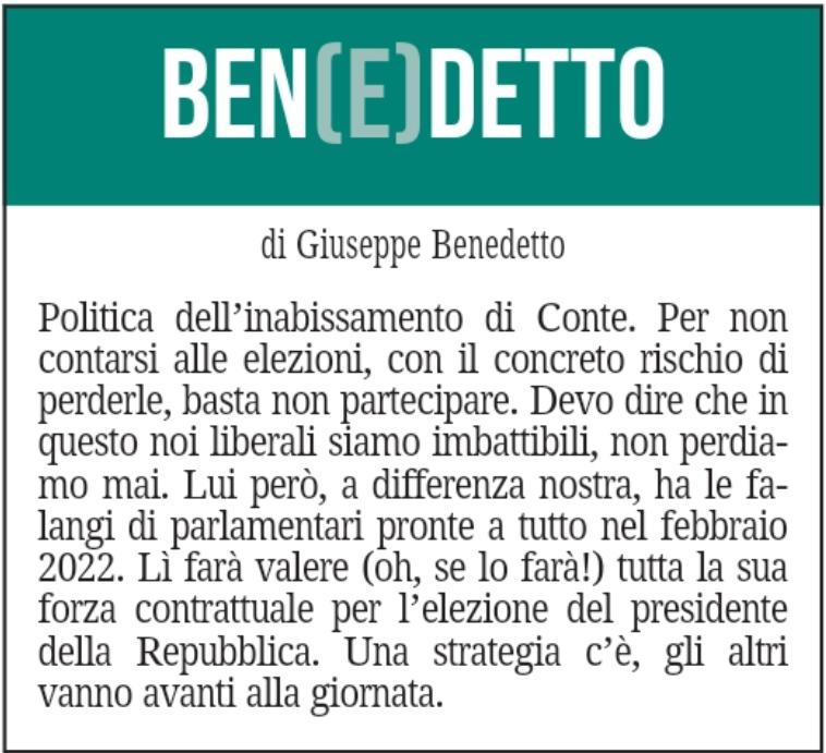 BEN(E)DETTO 4 settembre 2021