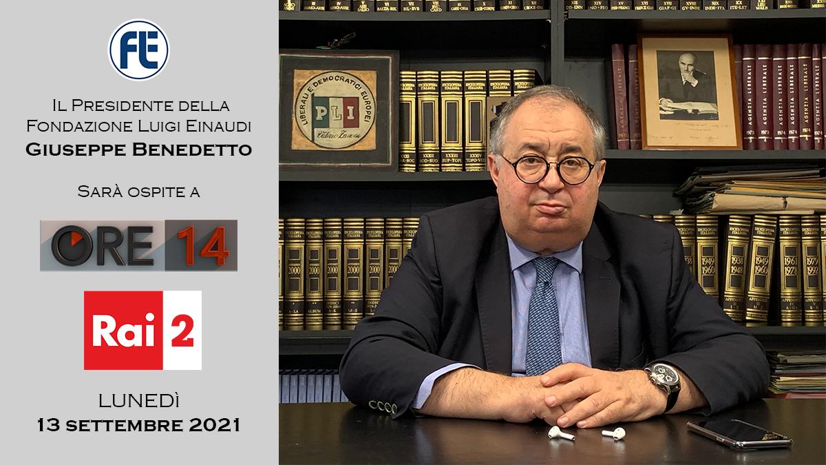 Il Presidente Giuseppe Benedetto ospite a Ore 14 su Rai 2 il 13 settembre 2021