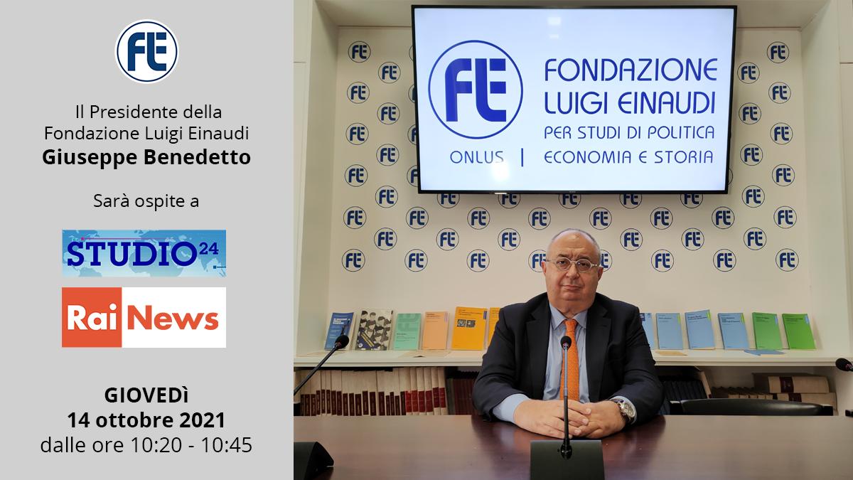 Il Presidente Giuseppe Benedetto ospite a Studio24 su RAI News il 14 ottobre 2021 dalle ore 10:20